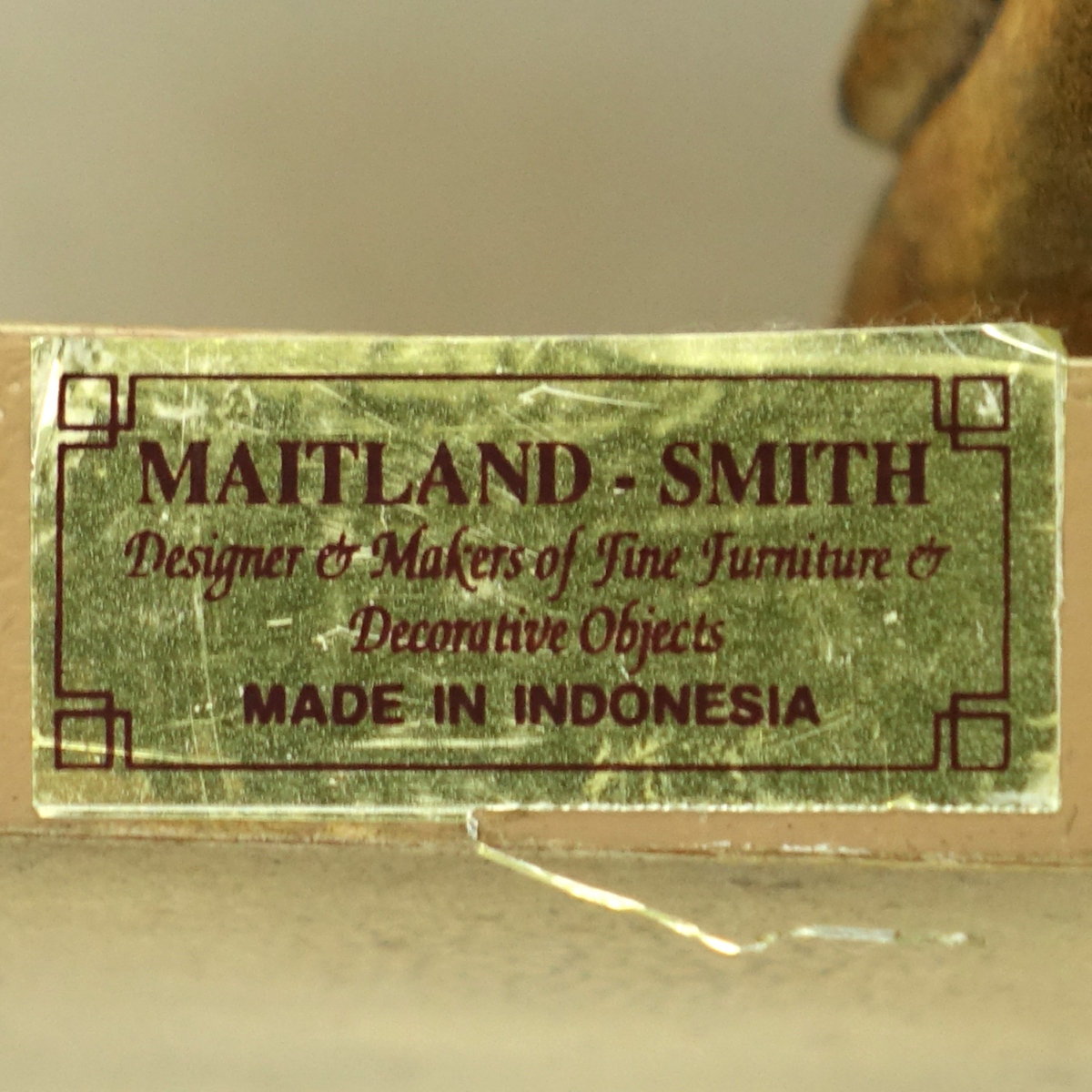 Pair Maitland Smith Gold Painted Brackets