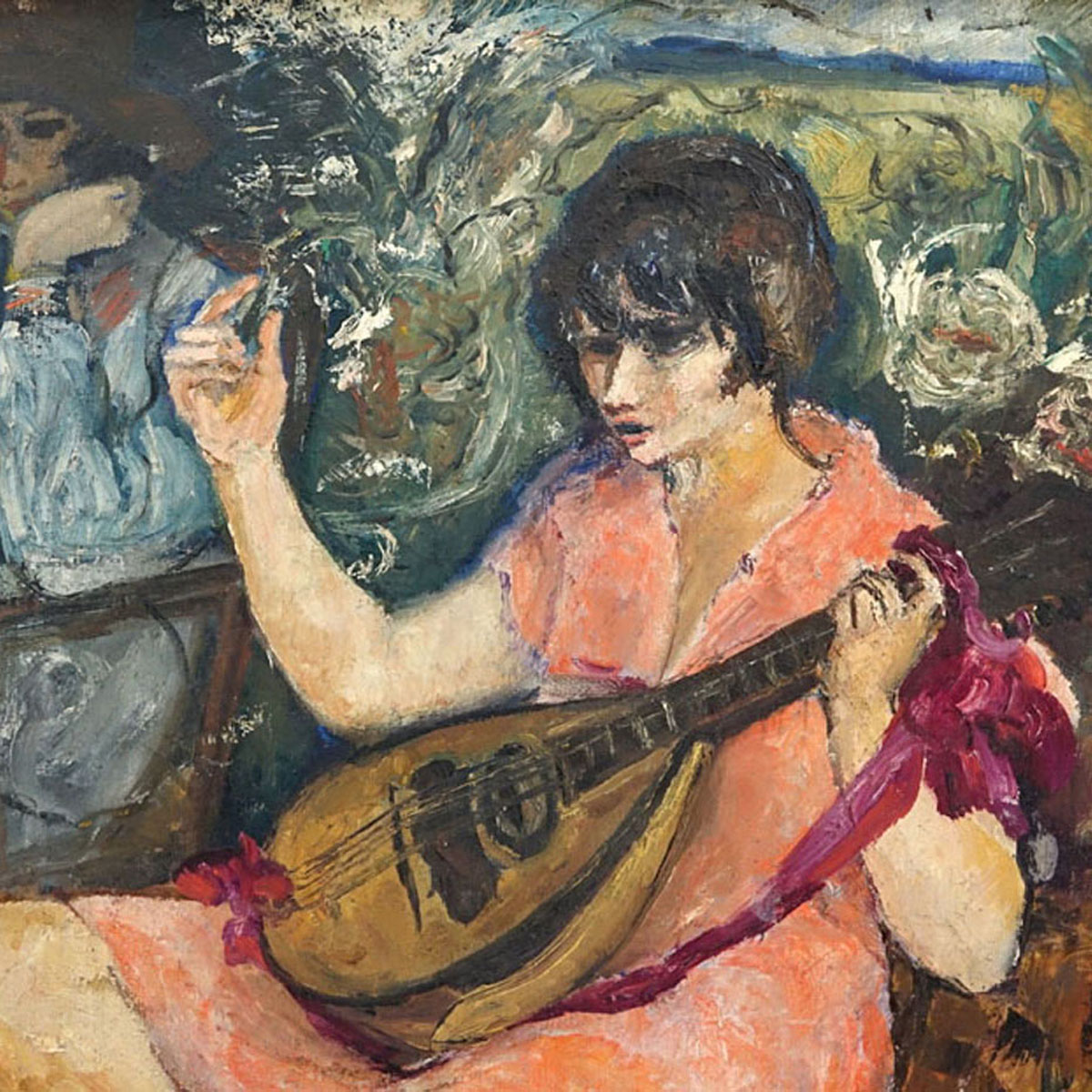 after: Marcel Dyf, French (1899-1985) Oil on Canvas, Woman Playin