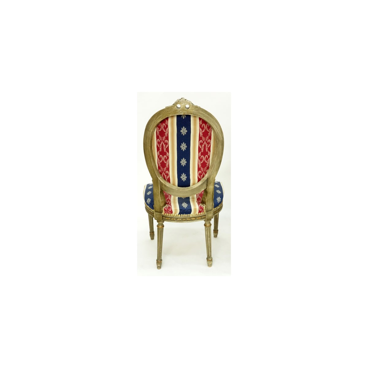 Louis XVI Style 3pc. Upholstered Salon Furniture Set. Includes: s