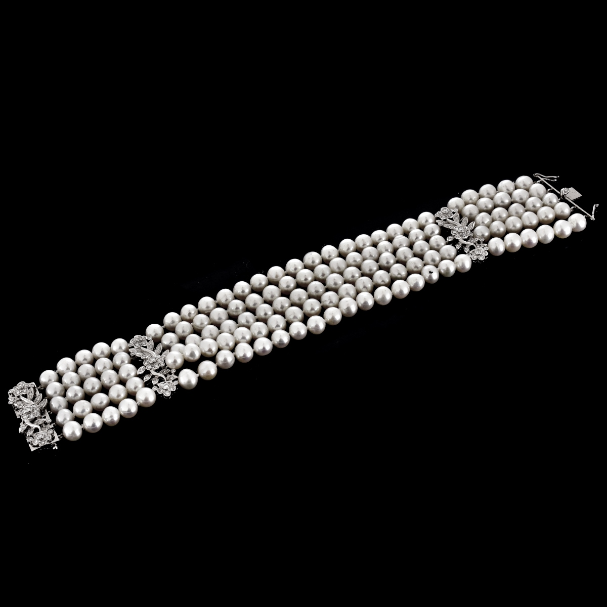 Pearl, Diamond and 18K Bracelet