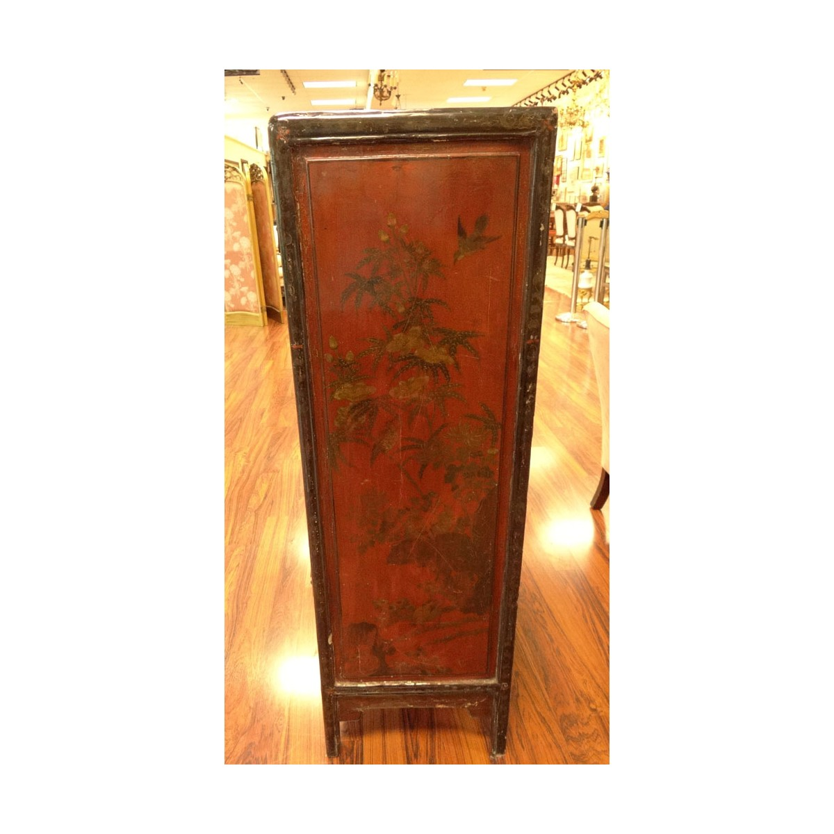 19th Century or Earlier Chinese Lacquer Two Door C