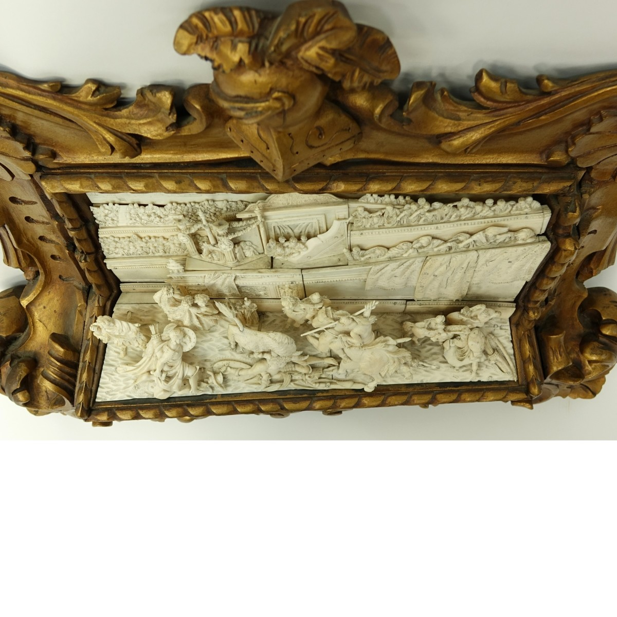 19th C. Italian School Carved Ivory Relief