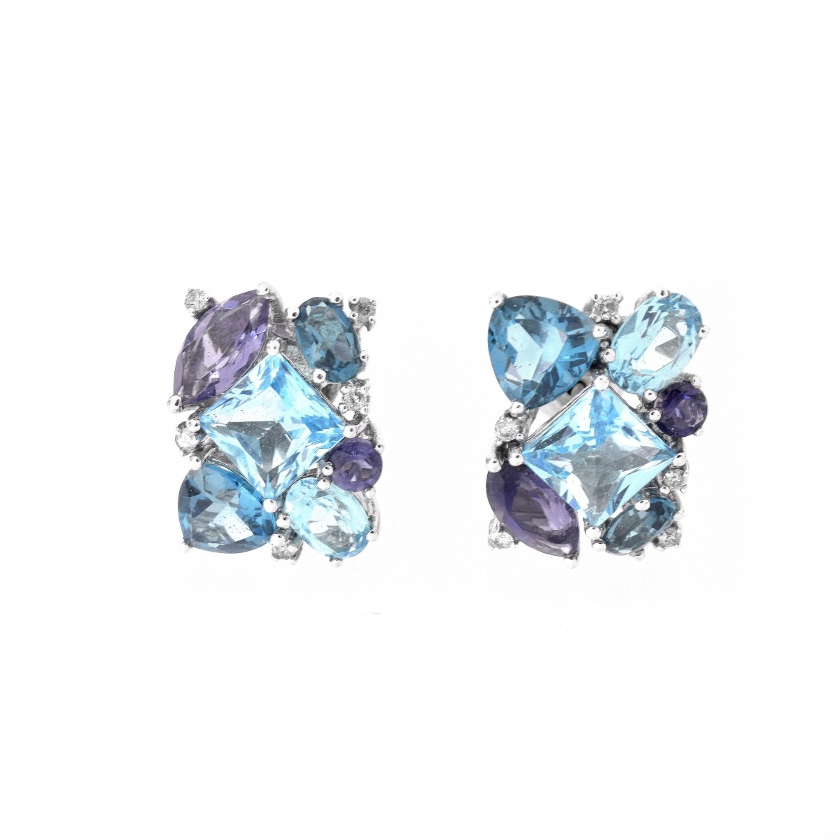 London Topaz Ring and Earring Suite