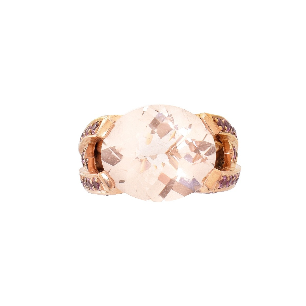 Morganite and 14K Ring