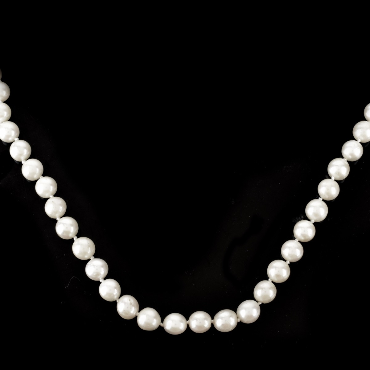 Two (2) Vintage 9.0mm Pearl Necklaces