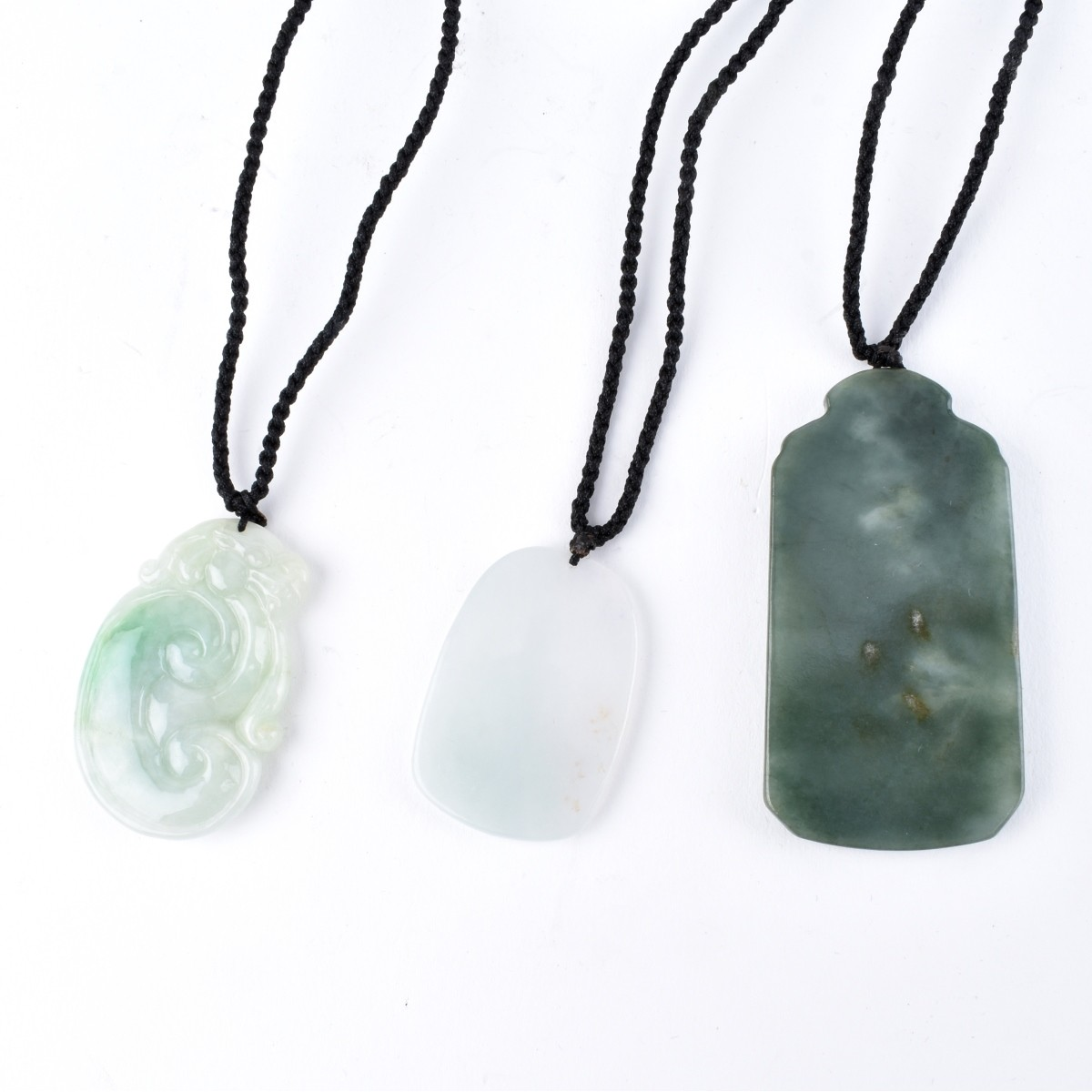 Three Hardstone Pendant Necklaces