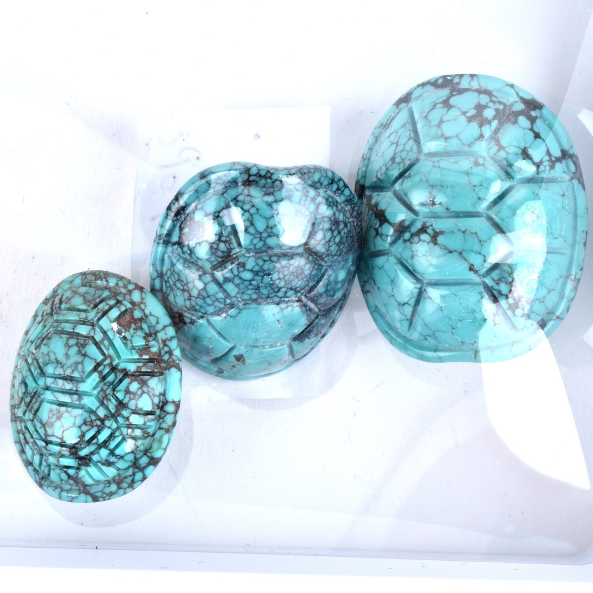 Lot of Carved Turquoise Cabochons