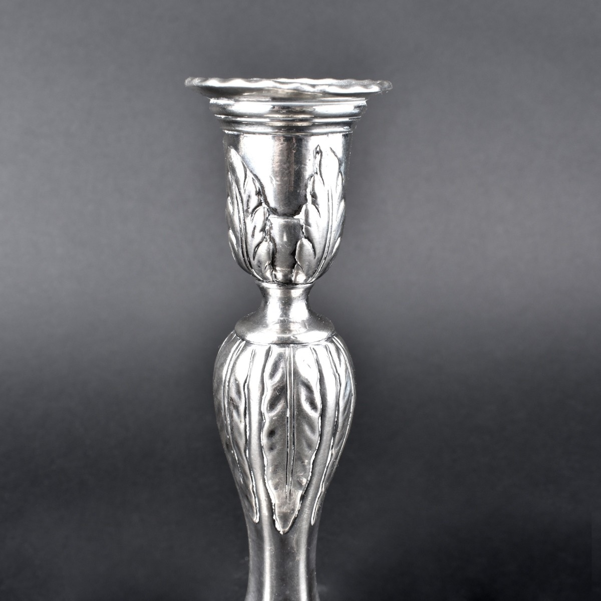 19th Century German Silver Plate Candlestick