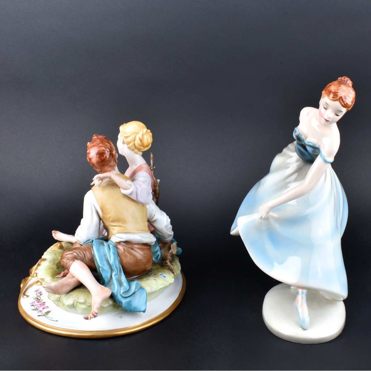 Two (2) Vintage Porcelain Figurines