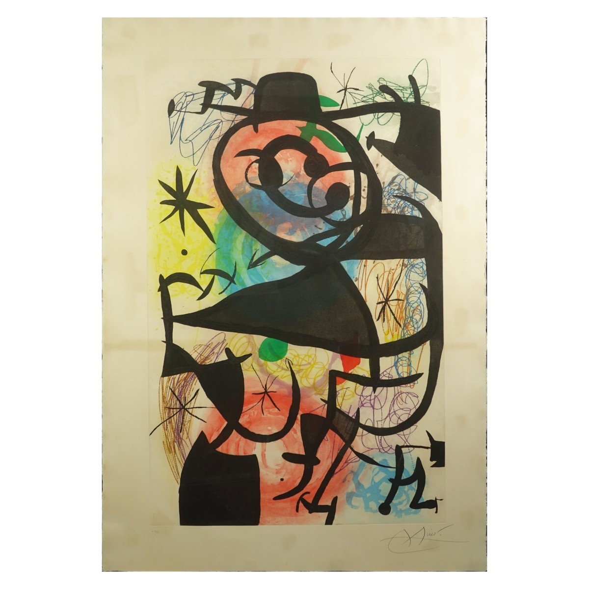 Joan Miro (1893-1983) Etching with Aquatint