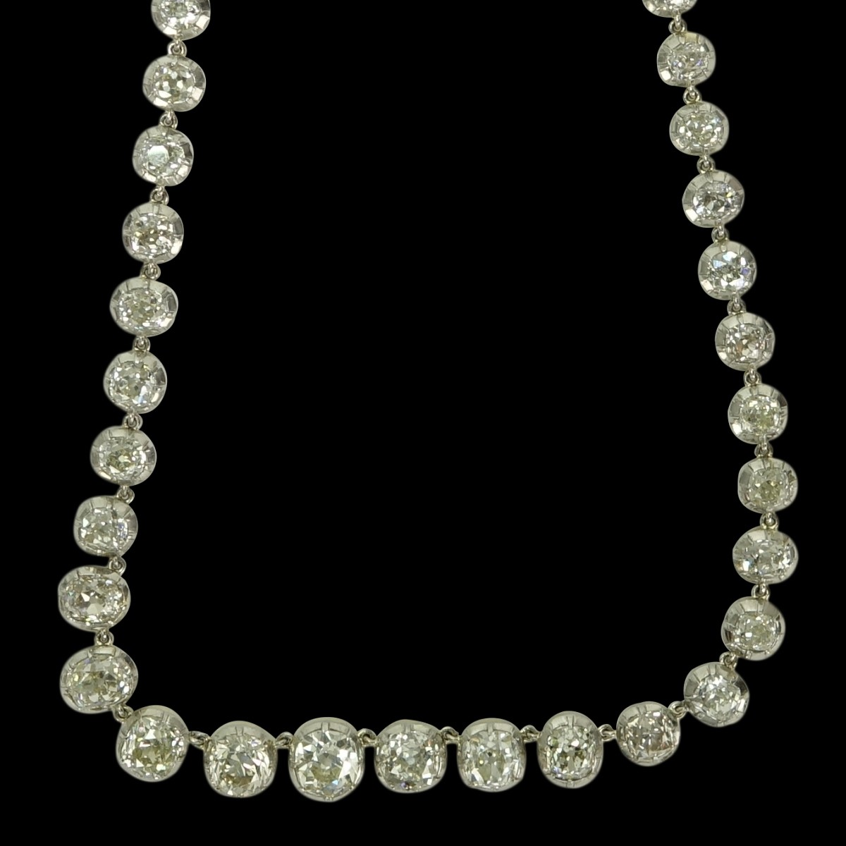 35.53ct TW Diamond, 18K and Platinum Necklace