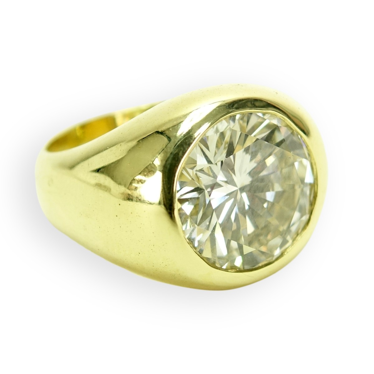 5.35ct EGL Diamond and 18K Ring