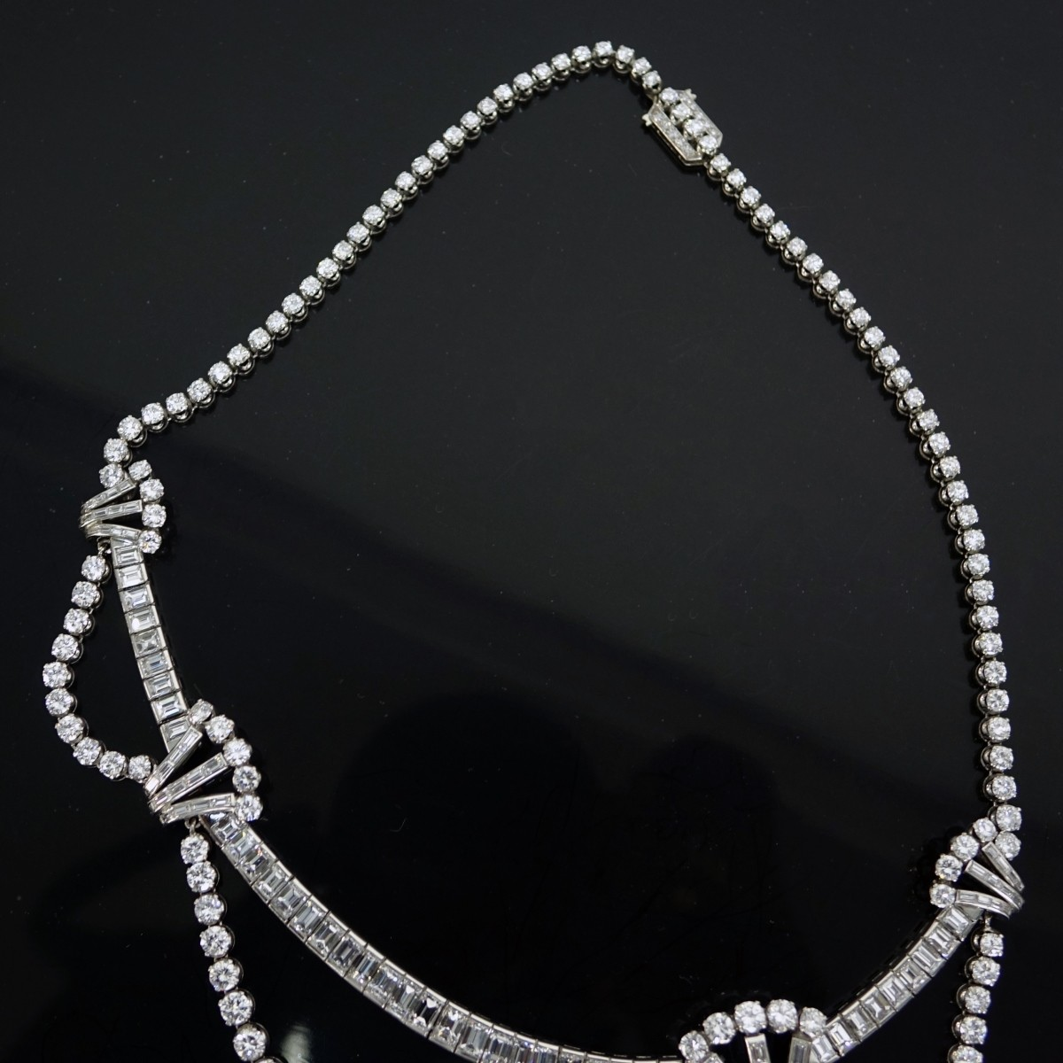 Art Deco 50ct Diamond and Platinum Necklace