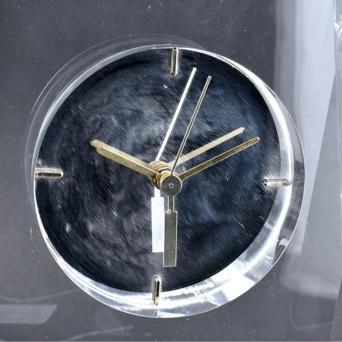 Mid Century Modern Faceted Lucite Clock