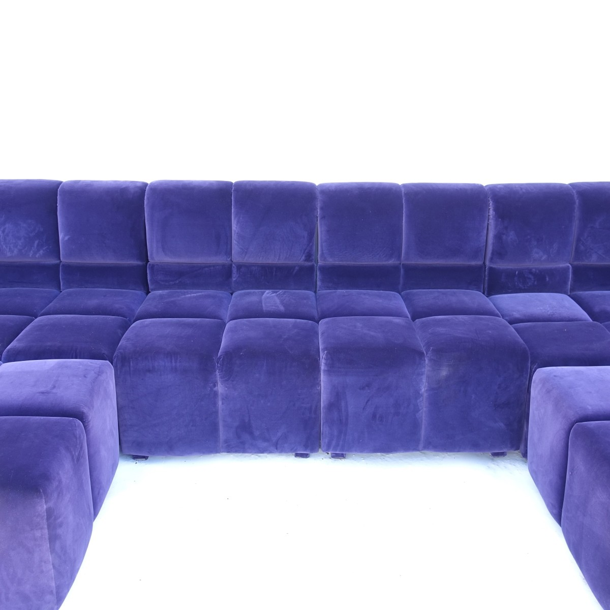 6 pc Modern Velvet Sectional Sofa