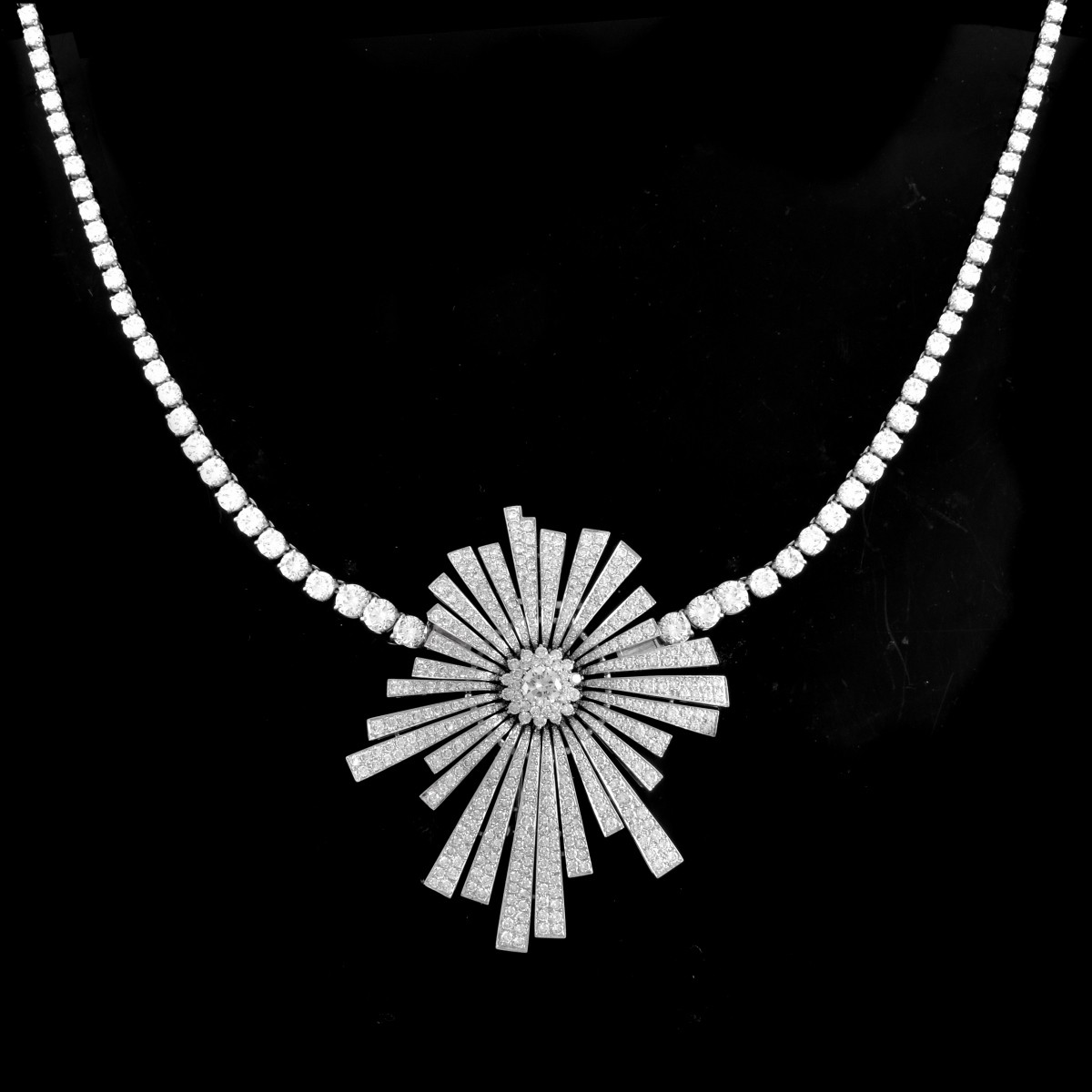 AGI 42.41ct TW Diamond and 18K Necklace/Brooch