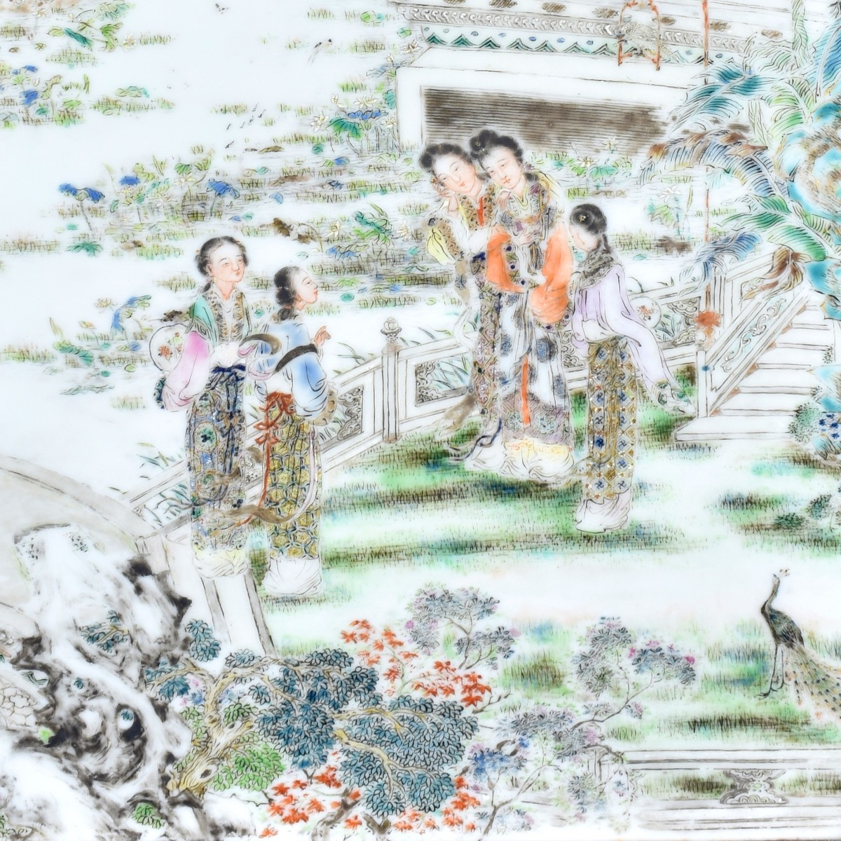 19C Chinese Porcelain Ching Dynasty Plaque