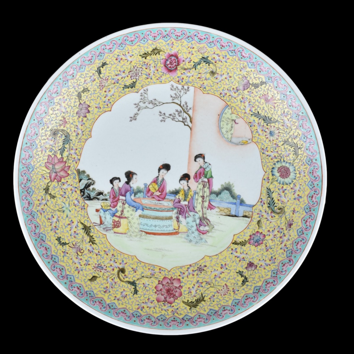 20C Famille Rose Chinese Charger