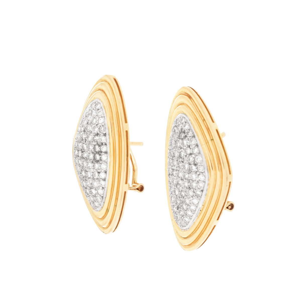 Georg Jensen Diamond and 14K Earrings