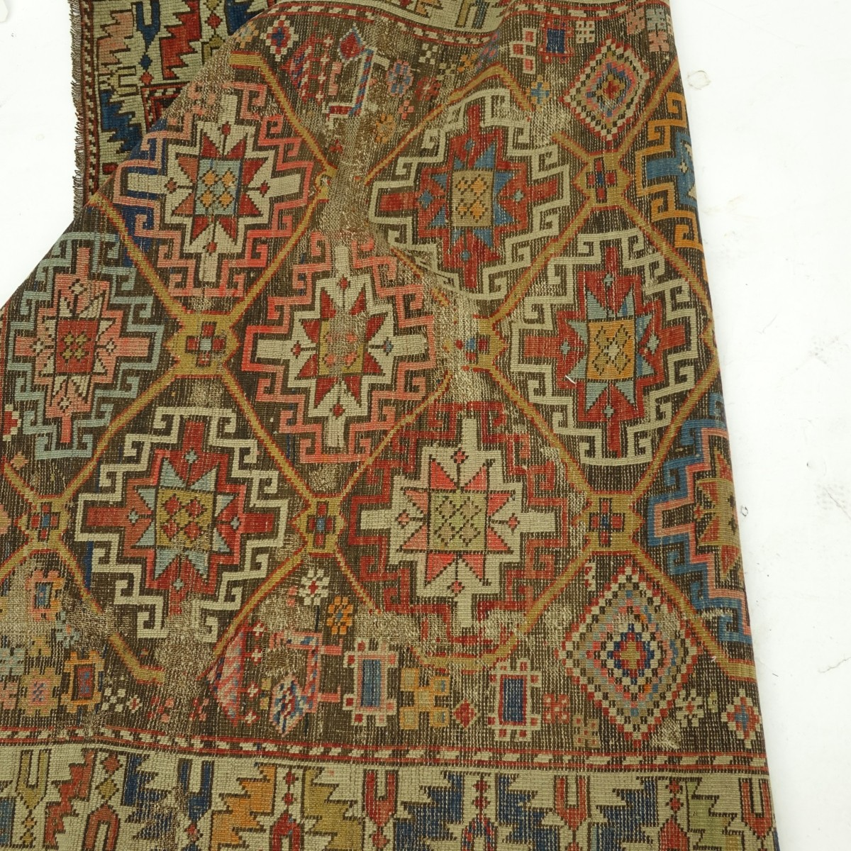 Antique Persian Caucasian Shirvan Rug