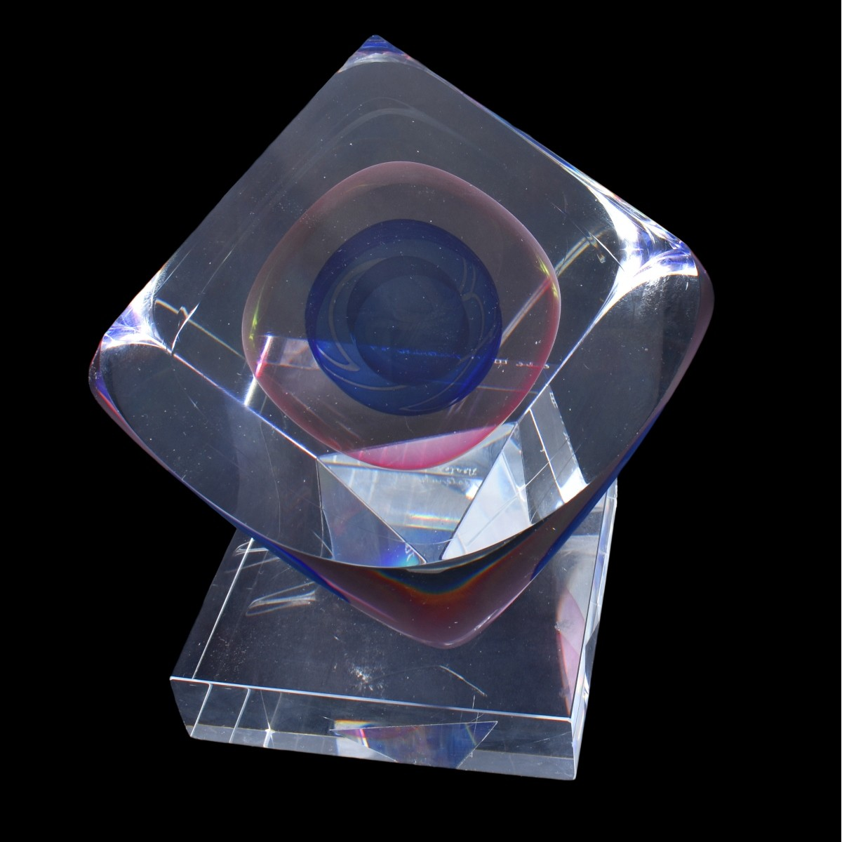 Nesteruk (born 1941) Art Glass Sculpture