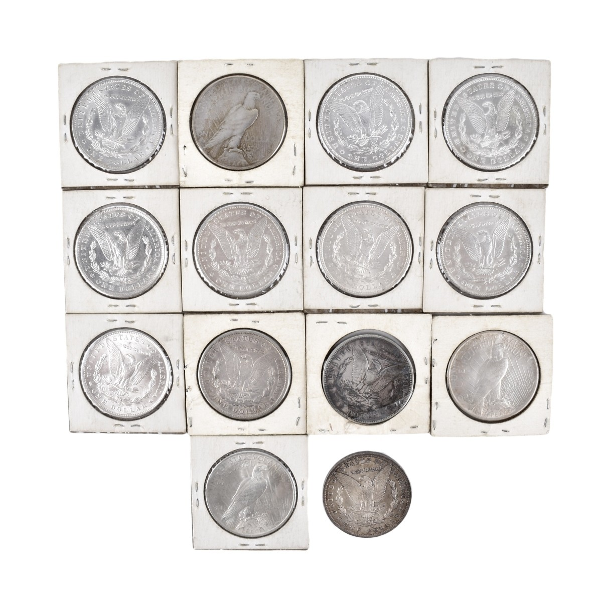 14 US Morgan Silver Dollar Coins