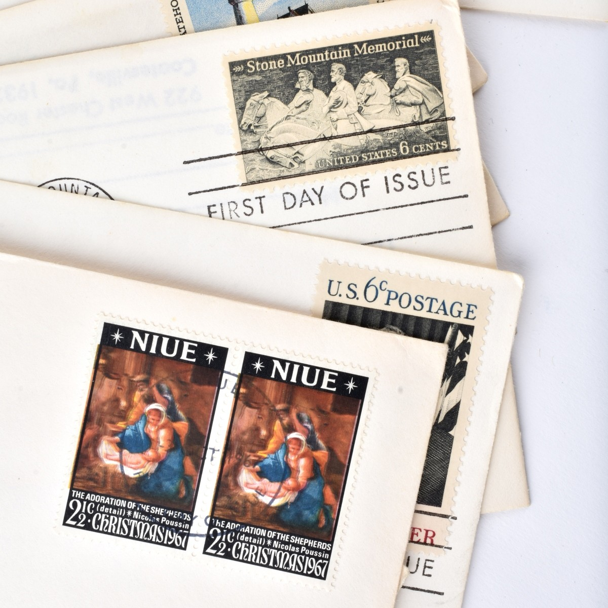 US First Day of Issue Stamped Envelopes
