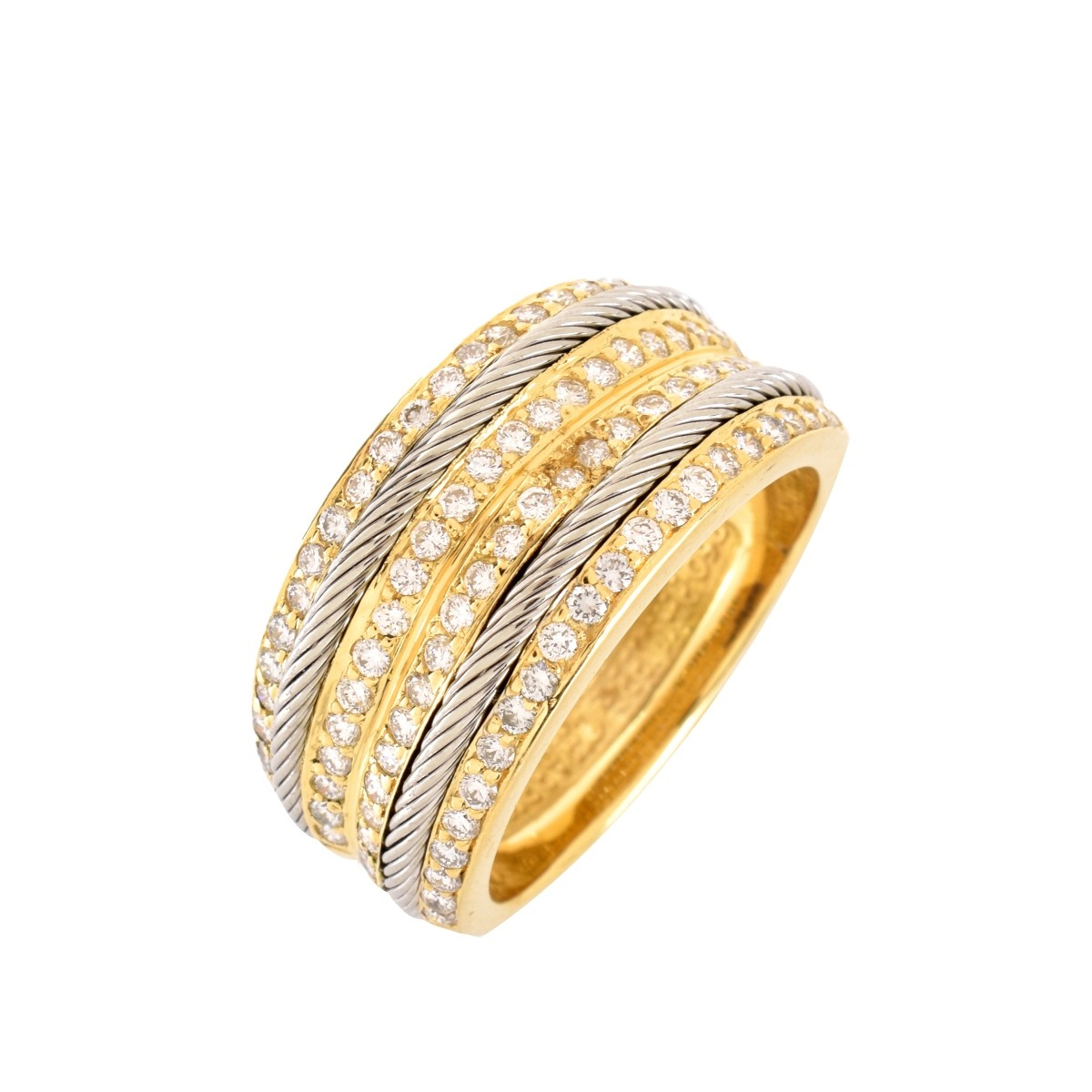 Philippe Charriol Diamond and 18K Men's Ring
