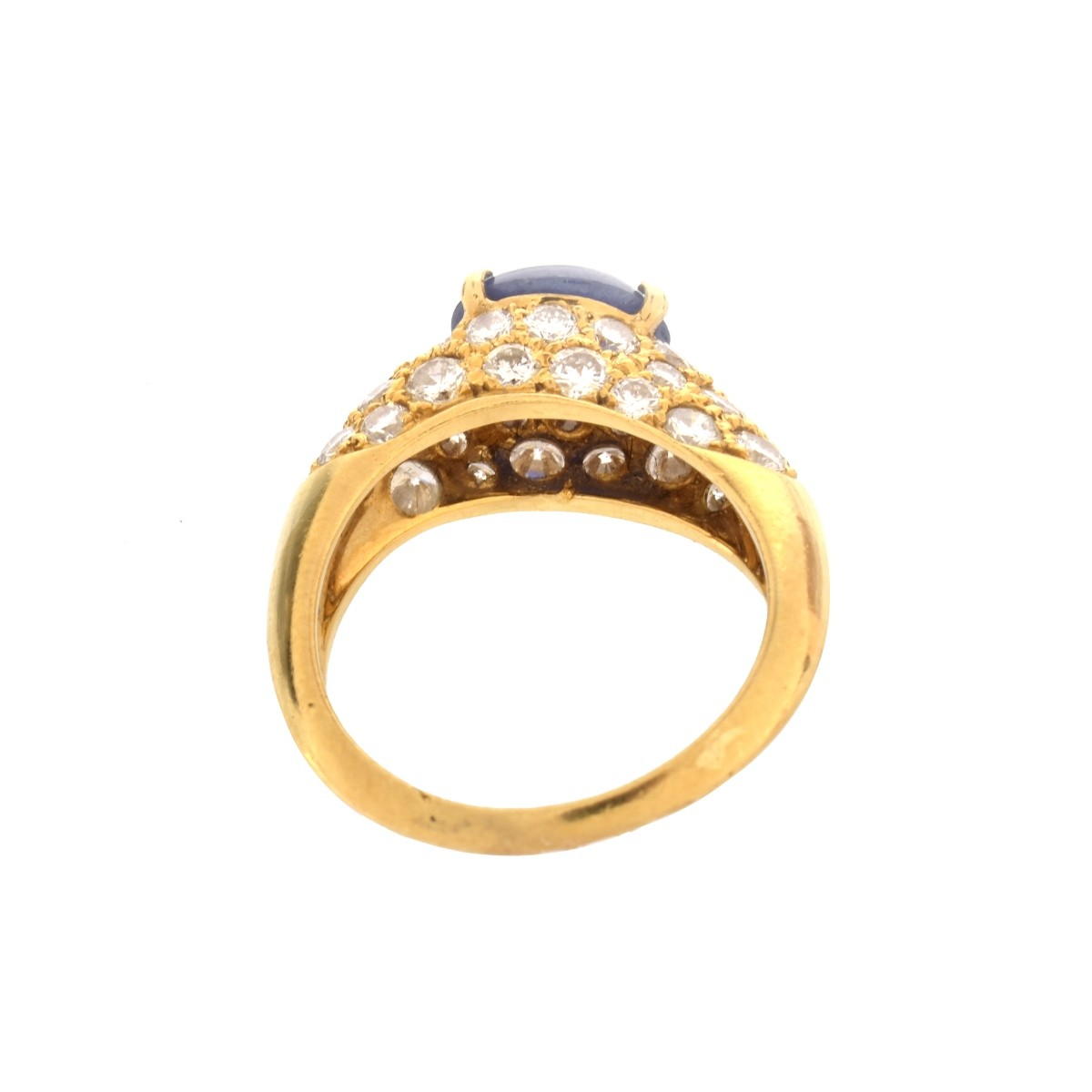 GIA Sapphire, Diamond and 18K Ring