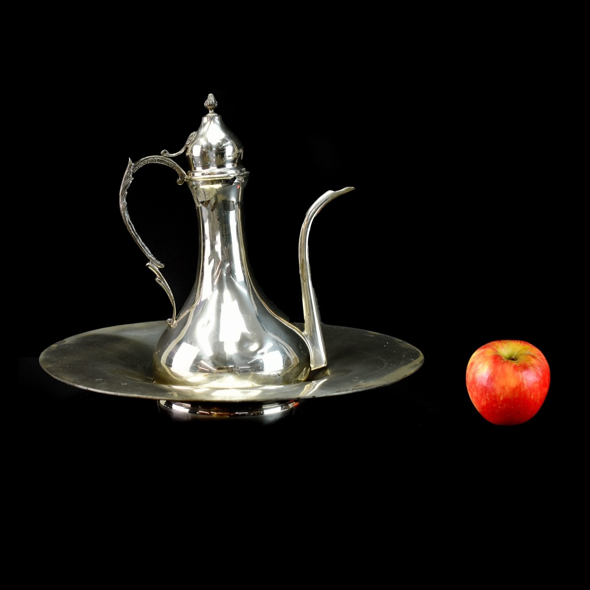 Suleyman 900 Silver Turkish Ewer and Wash Basin.