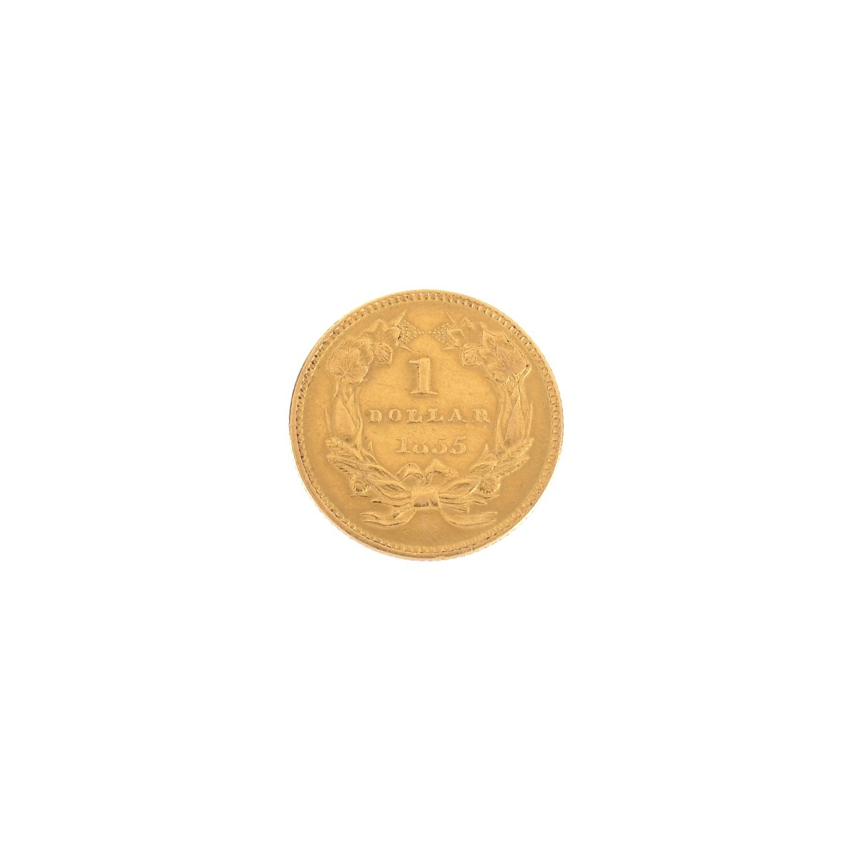 1855 US Gold One Dollar Coin