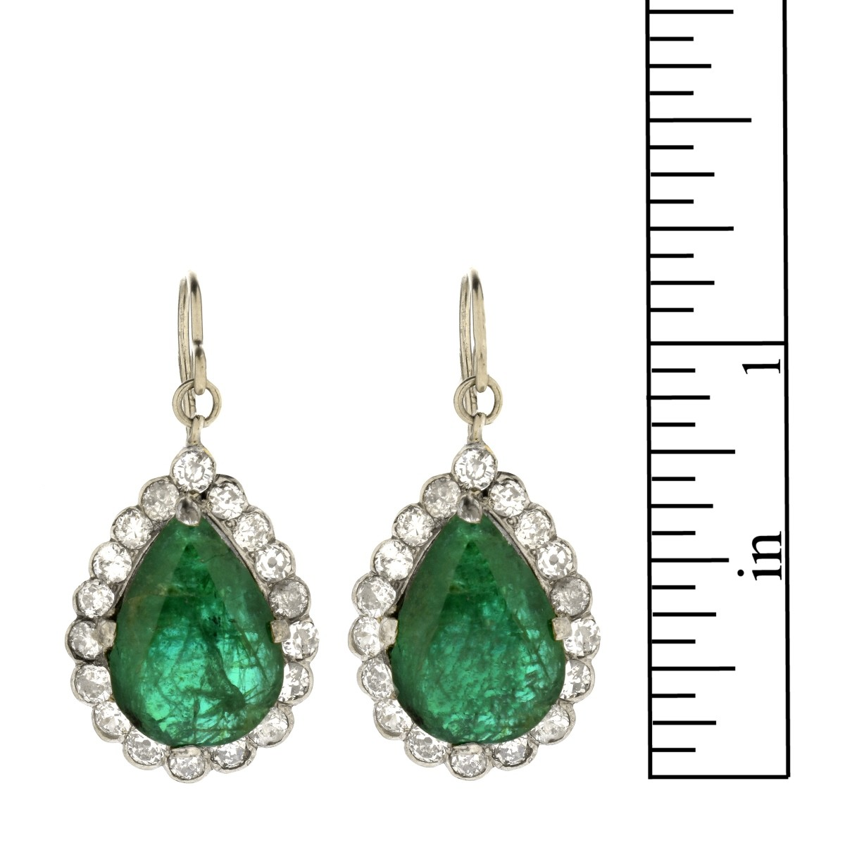 GIA Emerald and Diamond Earrings