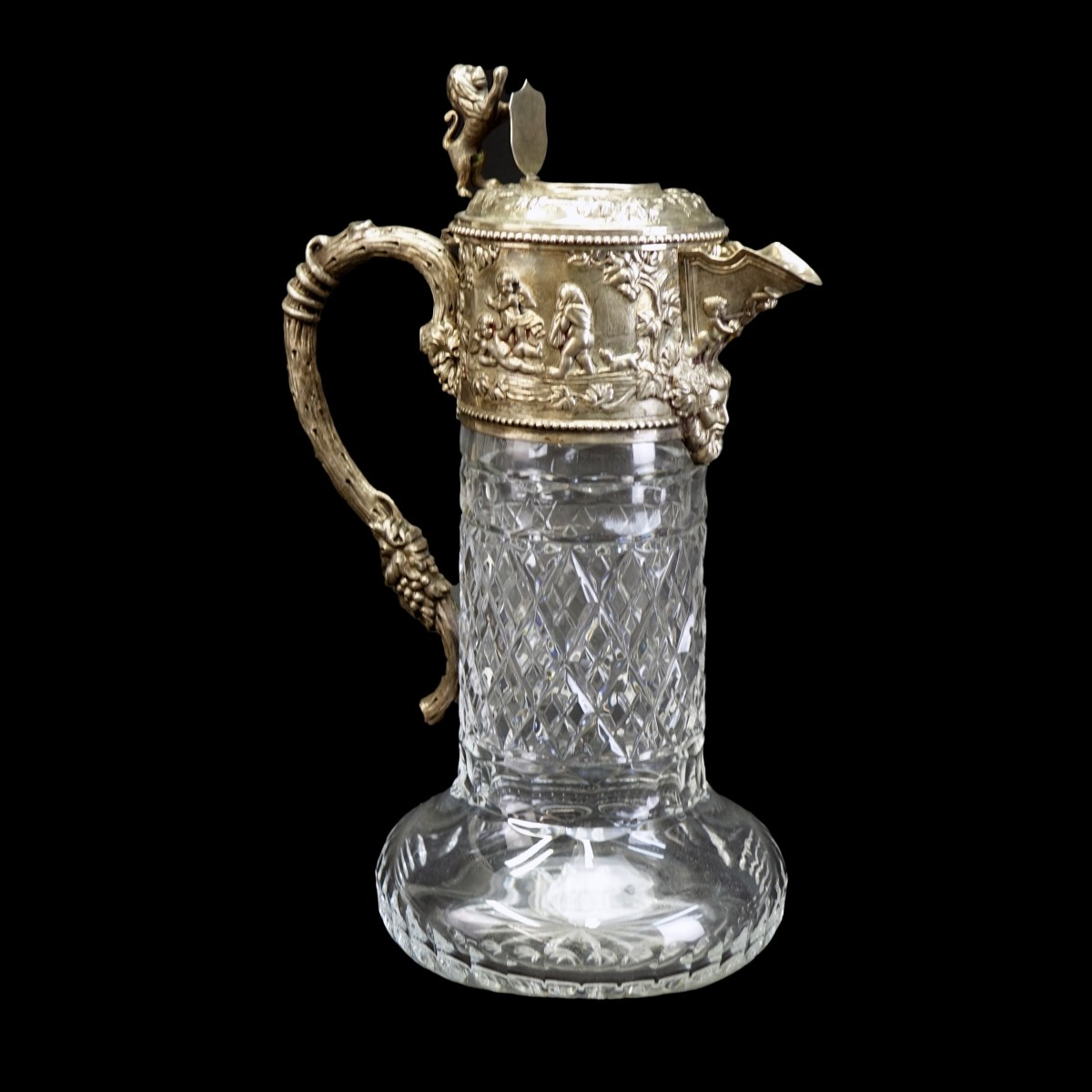 Topazio Crystal and Sterling Claret Jug