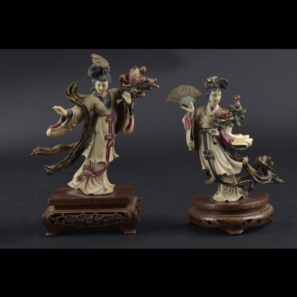 Two Chinese Ivory Figurines