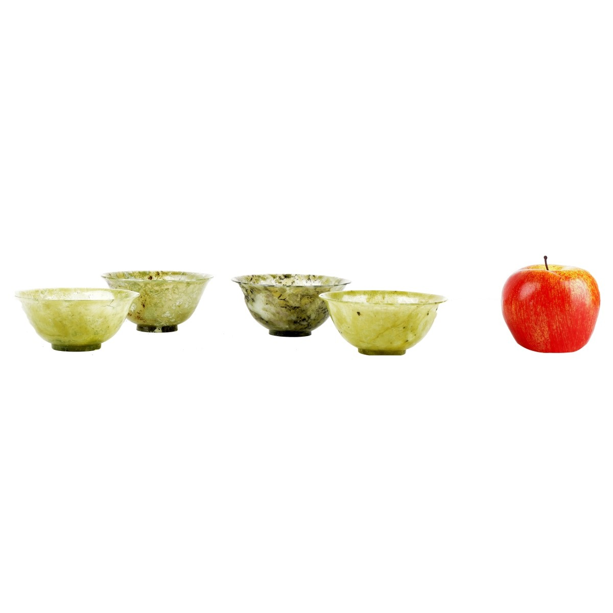 Four Chinese Jade Bowls