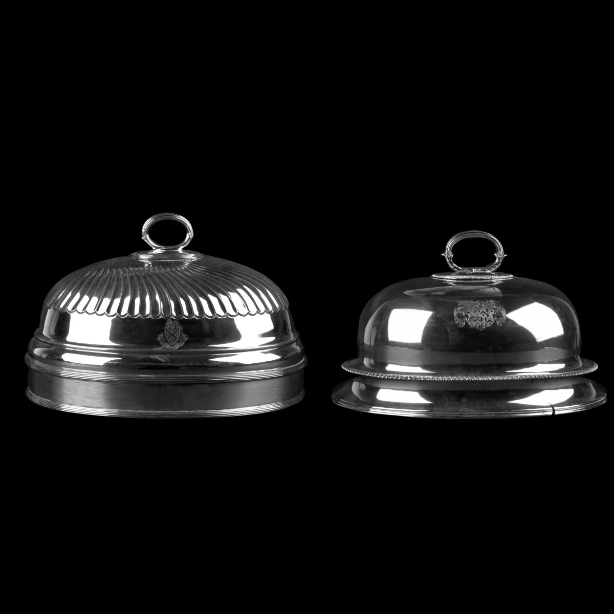 Vintage Silver Plate Dome Covers