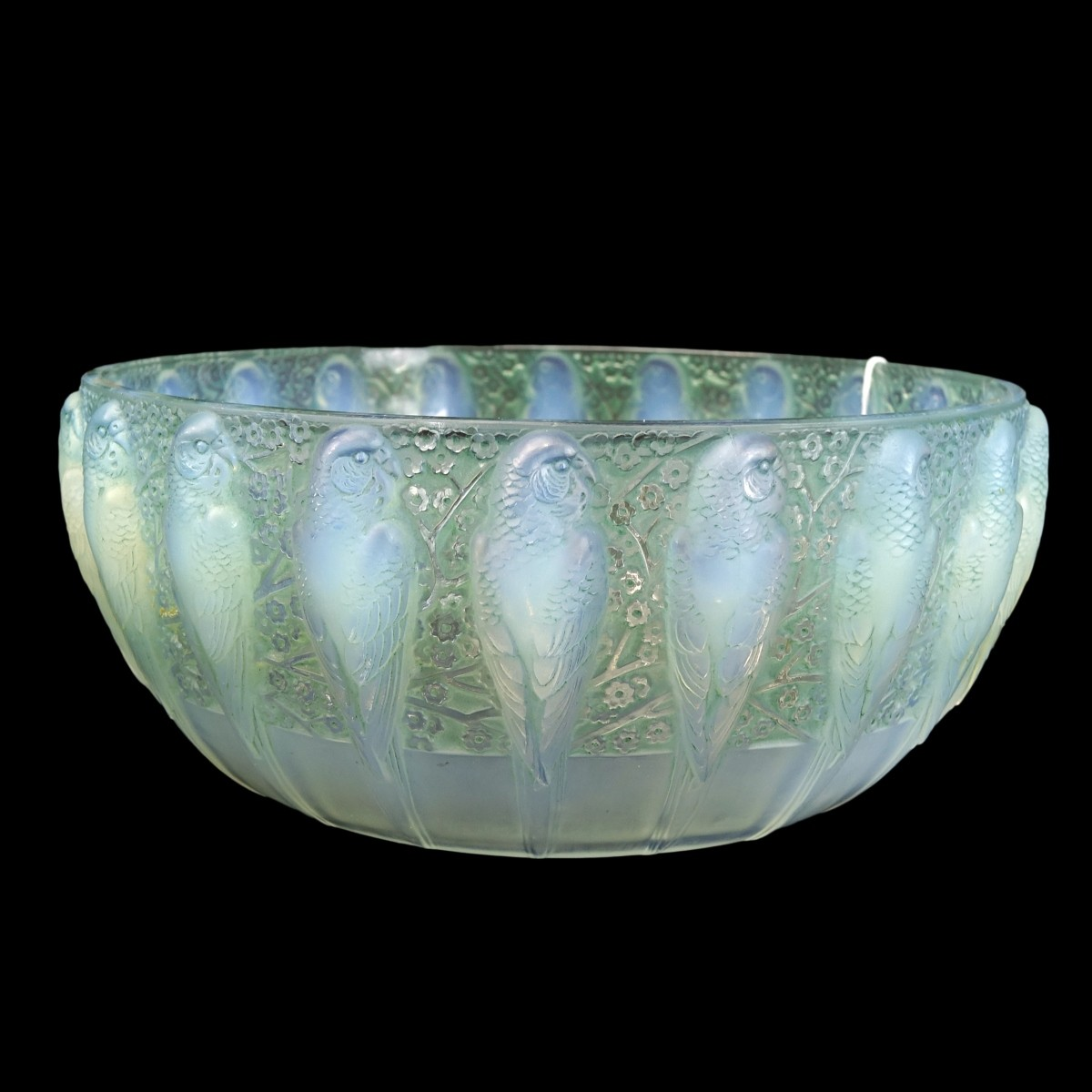"Rene Lalique ""Perruches"" Bowl"