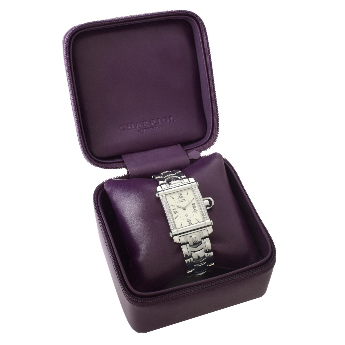 Charriol Diamond and Stainless Steel watch