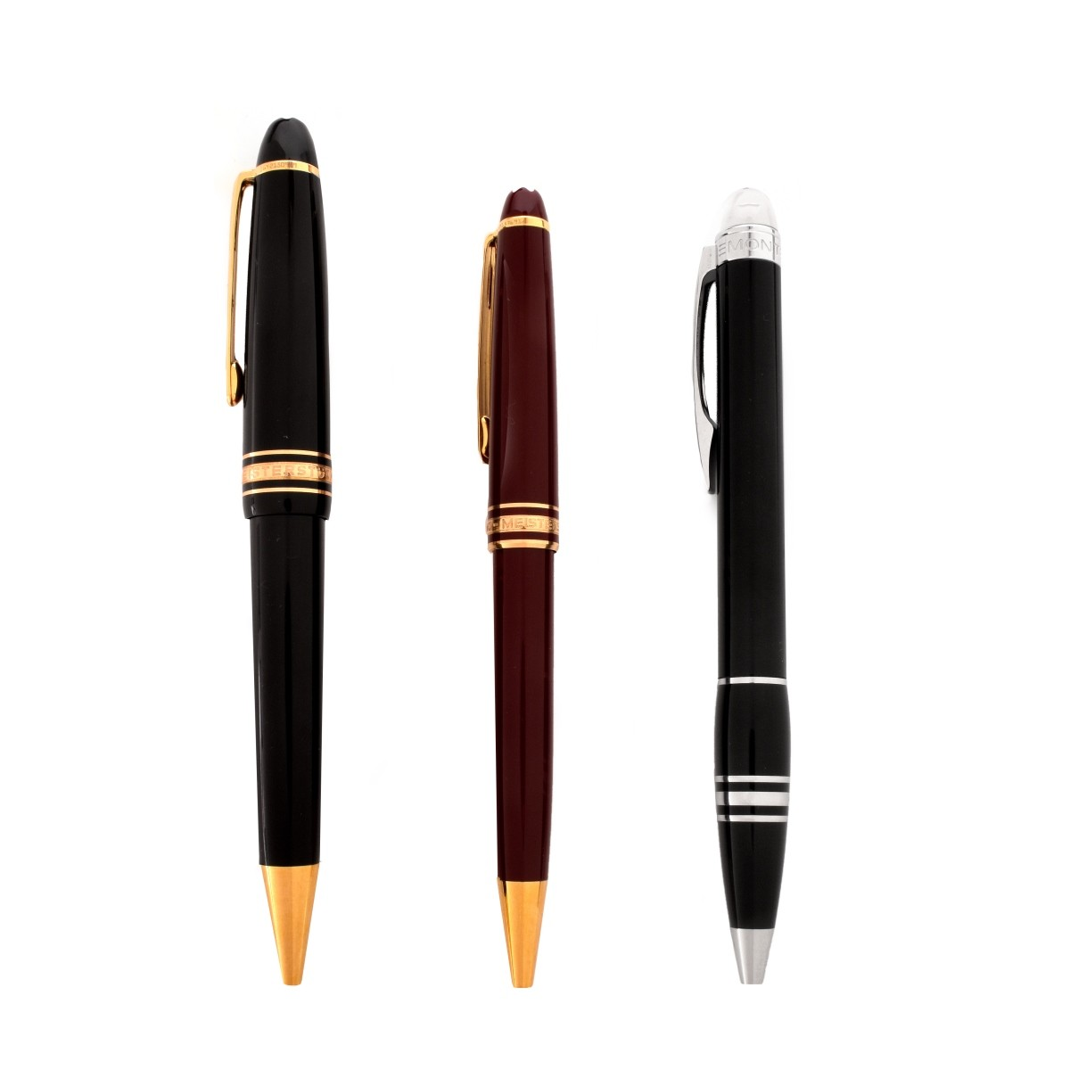 3 MontBlanc Rollerball Pens