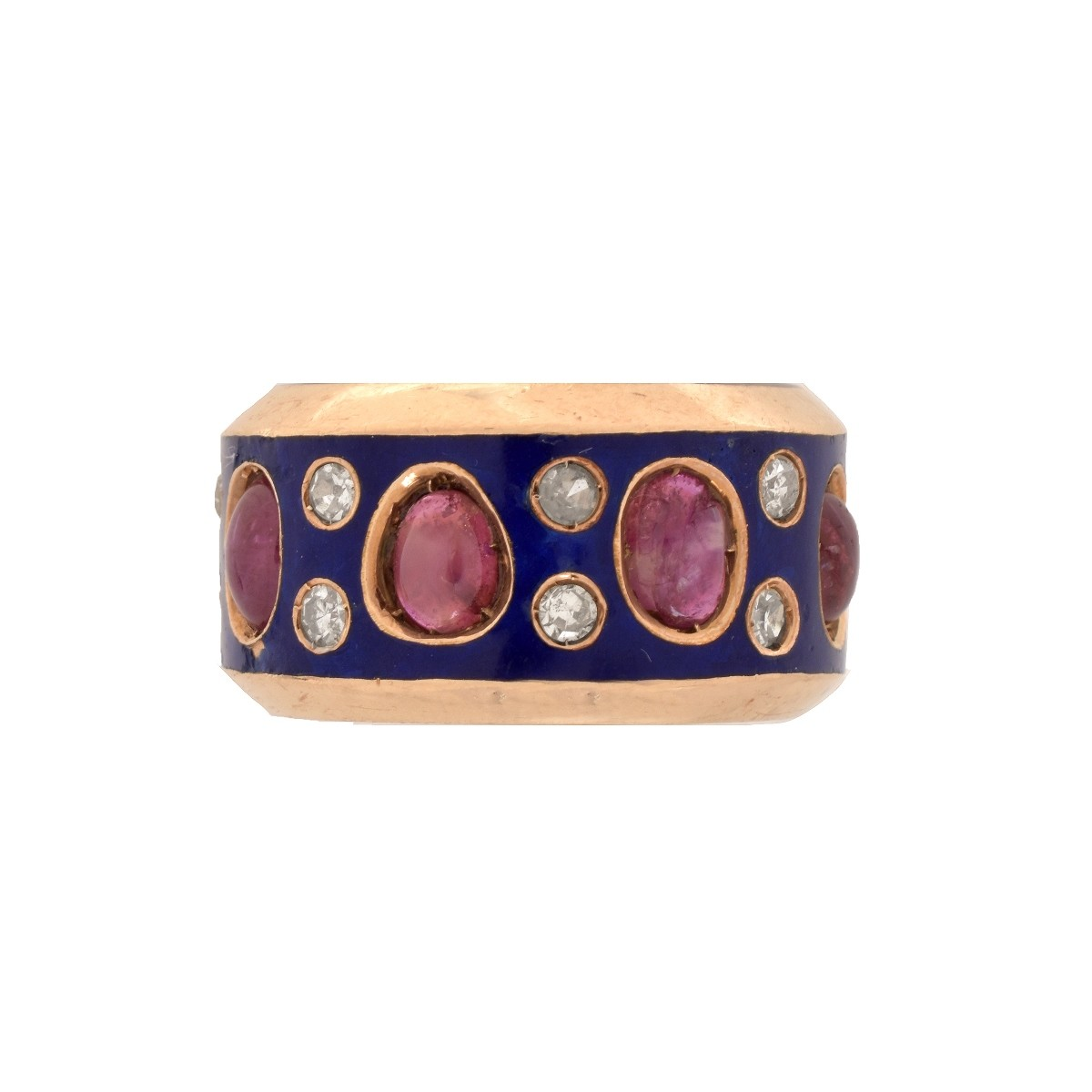 Antique Ruby, Diamond and 14K Ring