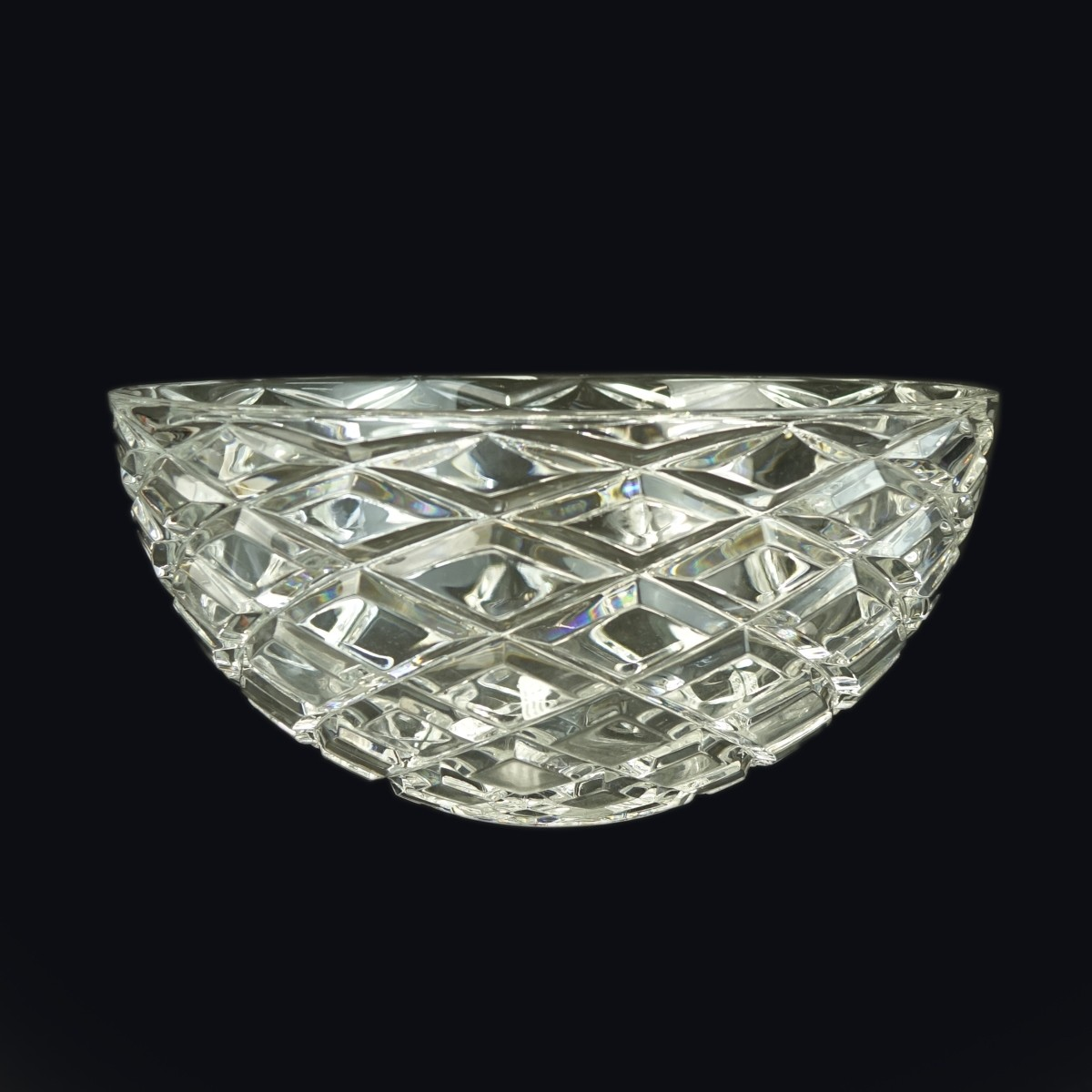 Tiffany & Co. Diamond Cut Crystal Bowl