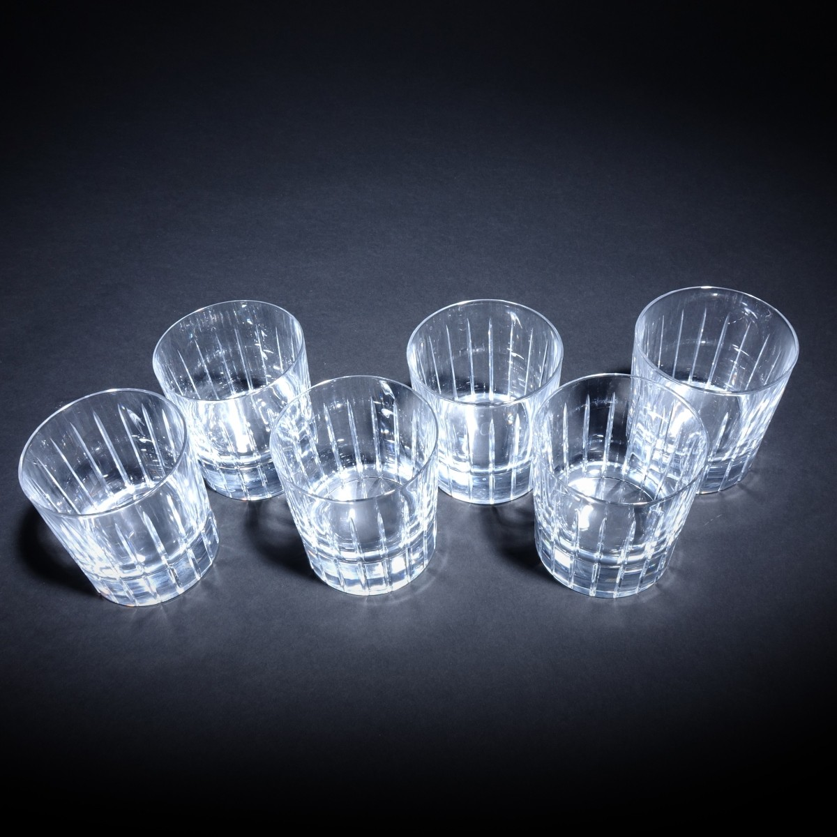 6 Christofle Iriana Double Old Fashion Glasses
