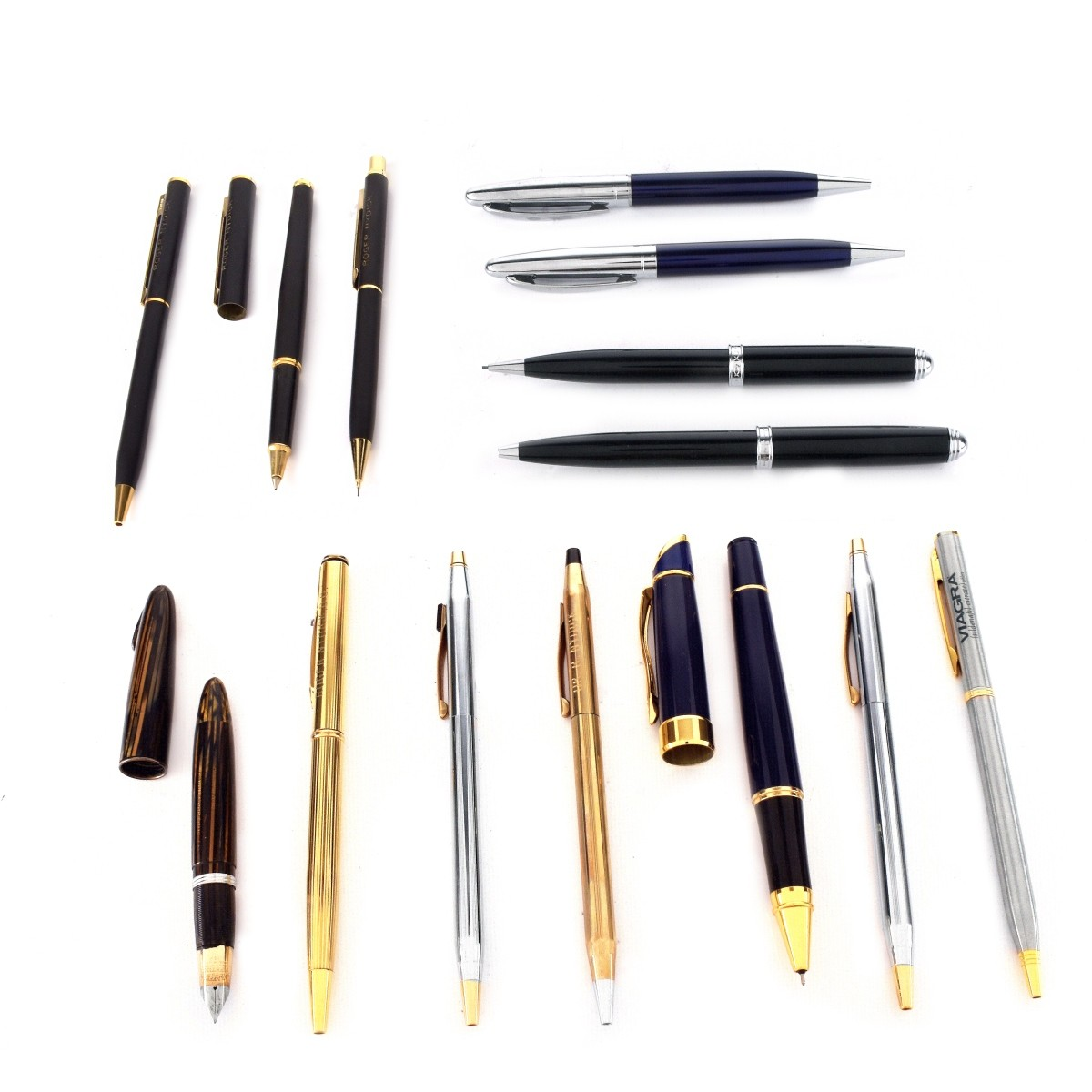14 Assorted Pens, Sheaffer's, Cross,Cardin etc
