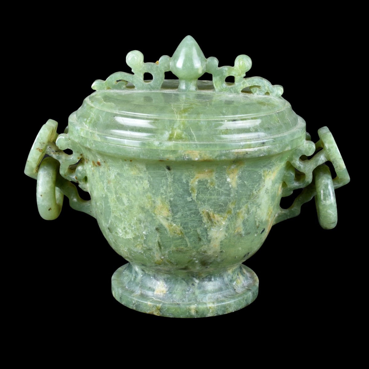 A Chinese Jade Covered Bowl
