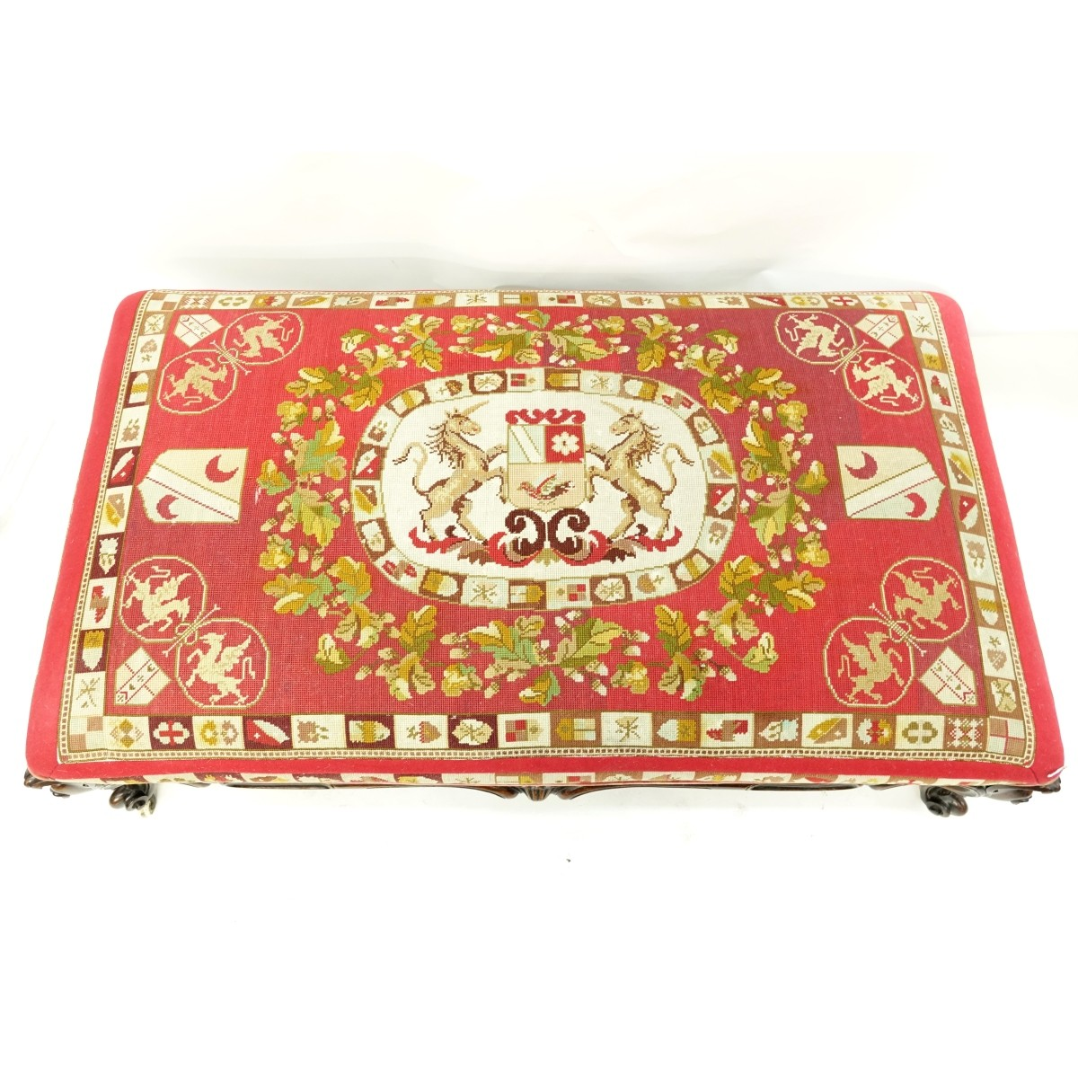 Victorian Needlepoint Bench