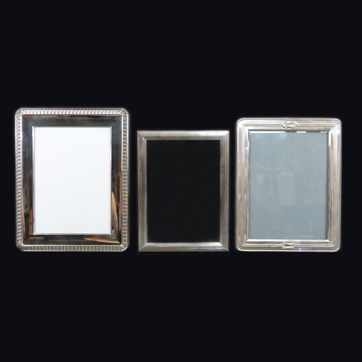 3 Christofle Silver Picture Frames