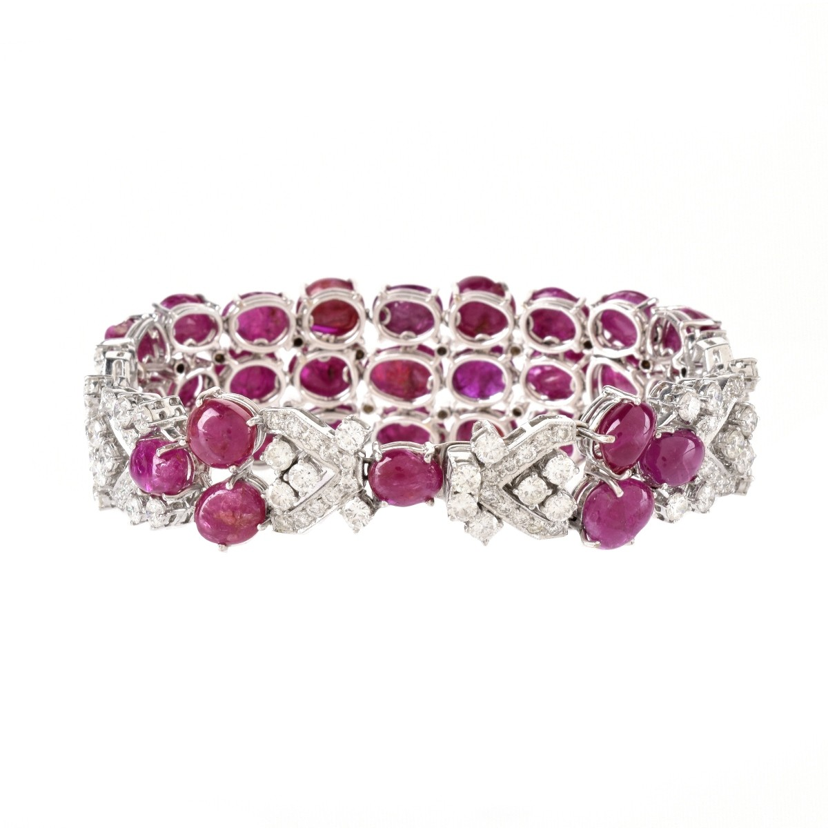 Burma Ruby, Diamond and 18K Bracelet