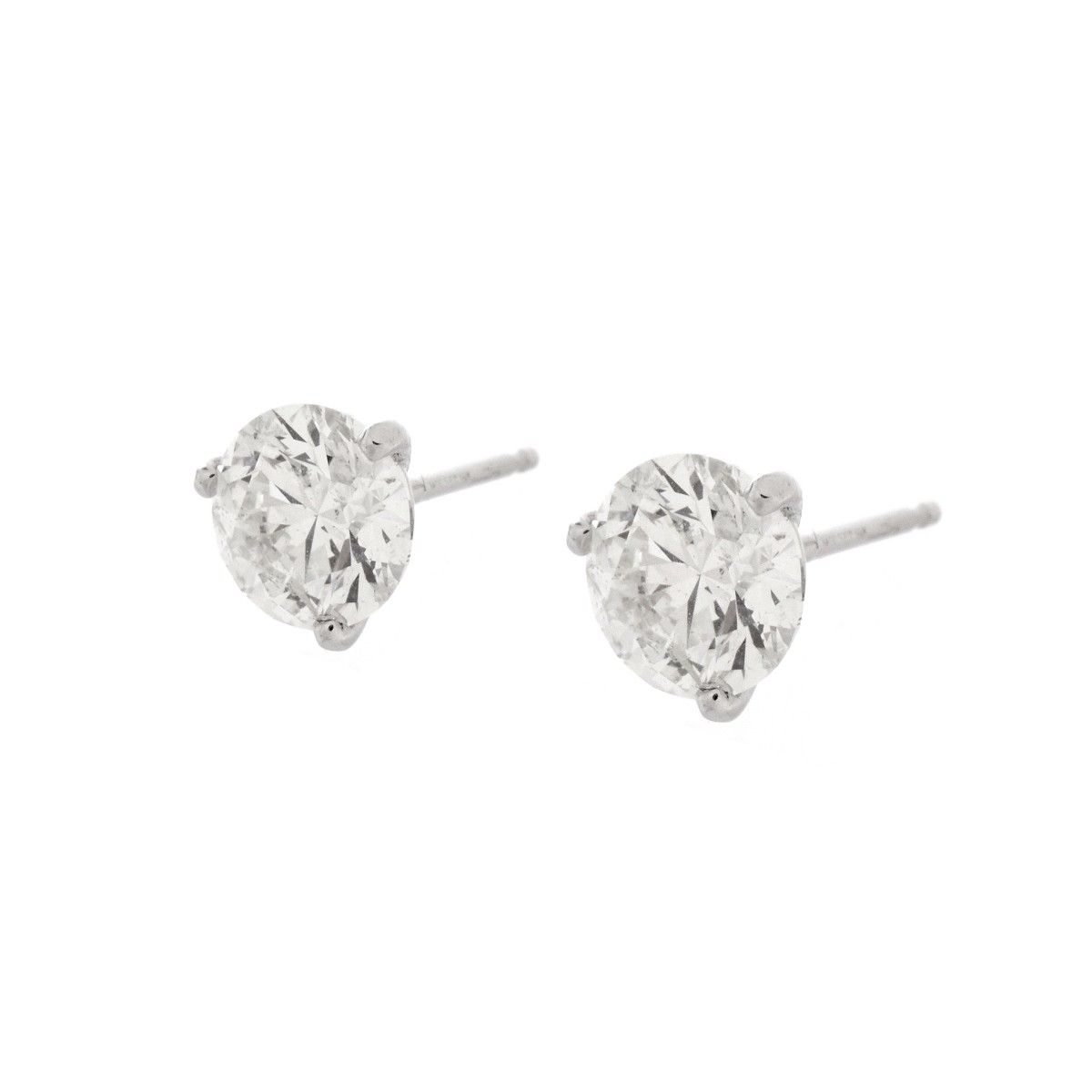 2.01 Carat Diamond Ear Studs