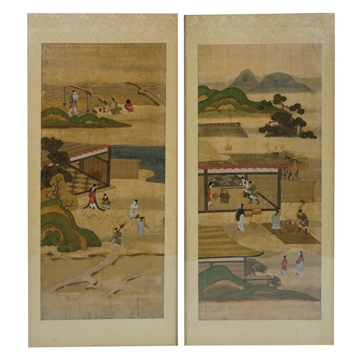 Pair of Chinese Scroll Paintings