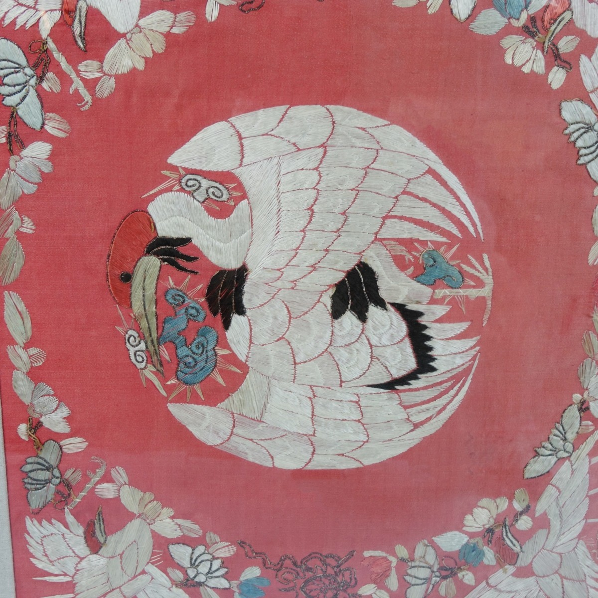 Chinese Silk Embroidered Panel